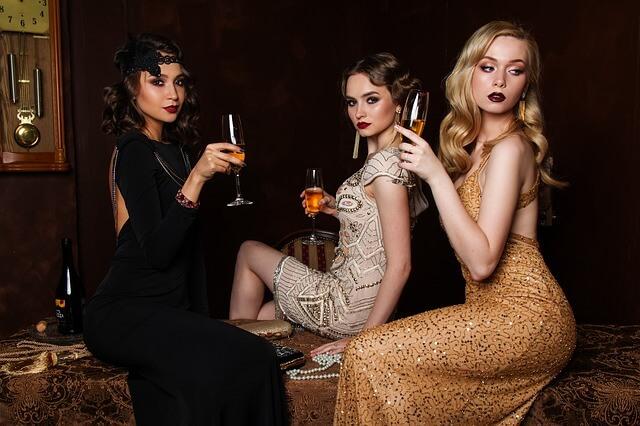 three girls dressed nice