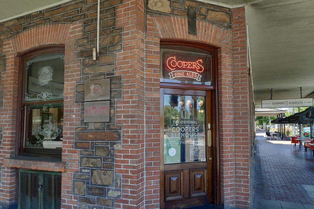 Coopers Alehouse Adelaide door